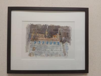 Tentoonstelling aquarellen van Willy De Ville